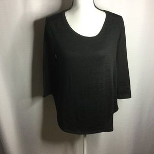STYLE & Co. Black Pullover Sweater with Lace Back
